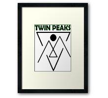 Twin Peaks- symbol Framed Print