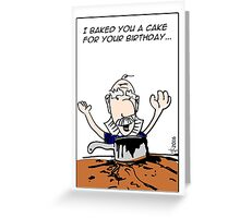 Baking Disaster Birthday Greeting Card