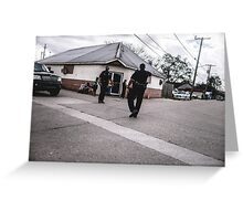 Street Cops Greeting Card