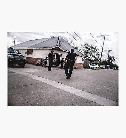 Street Cops Photographic Print