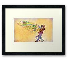 Destiel Hug Framed Print