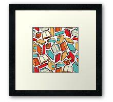 Seamless book pattern or Background wallpaper Framed Print