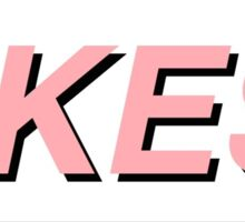 pink YIKES! text Sticker