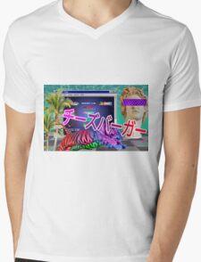 Aesthetic Vaporwave Tigers Mens V-Neck T-Shirt