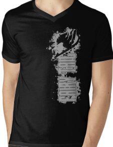 Fairy Tail Splash Grey Mens V-Neck T-Shirt