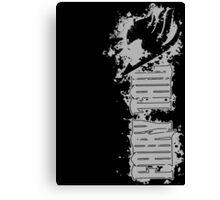 Fairy Tail Splash Grey Canvas Print