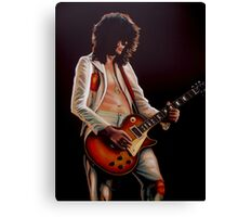 Jimmy Page In Led Zeppelin Painting Canvas Print