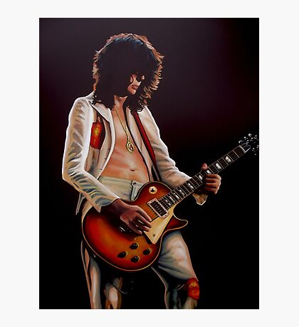 Jimmy Page In Led Zeppelin Painting Photographic Print