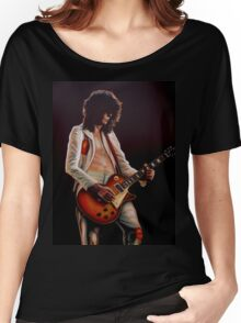 Jimmy Page In Led Zeppelin Painting Women's Relaxed Fit T-Shirt