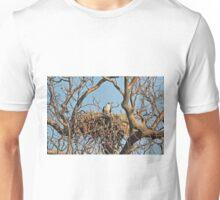 White Bellied Sea Eagle nesting - Haliaeetus Leucogaster Unisex T-Shirt