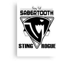 Sabertooth Triangle Canvas Print