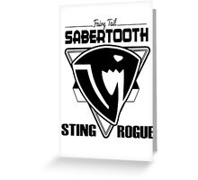 Sabertooth Triangle Greeting Card