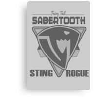 Sabertooth Triangle Grey Canvas Print