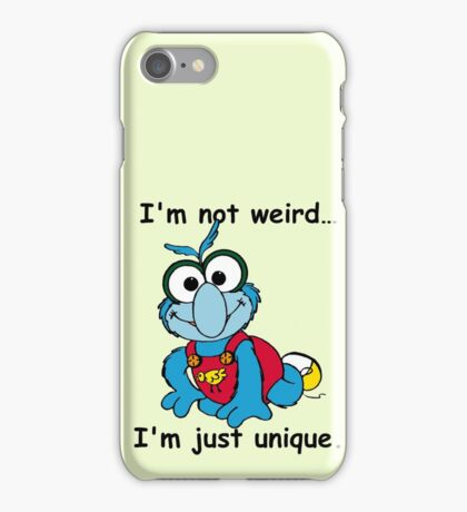 Muppet Babies - Gonzo 02 - I'm Not Weird... iPhone Case/Skin