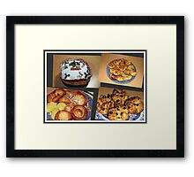 Seasonal Fayre Collage - Food for Christmas Framed Print