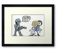 Robocop Fan art Framed Print