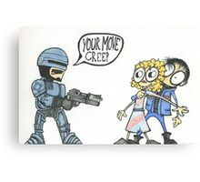 Robocop Fan art Canvas Print