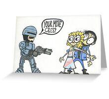 Robocop Fan art Greeting Card