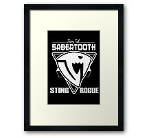 Sabertooth Triangle White Framed Print