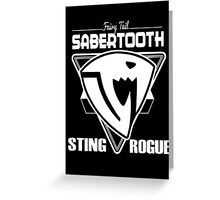 Sabertooth Triangle White Greeting Card