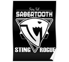 Sabertooth Triangle White Poster