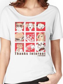 Thanks internet Women's Relaxed Fit T-Shirt