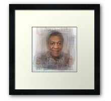 Bill Cosby Portrait Framed Print