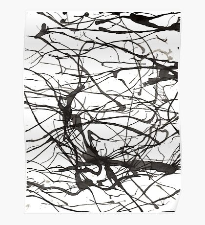 black and white ink Poster