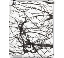 black and white ink iPad Case/Skin