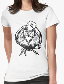 Homie Pigeon (Black & White) RedBubbleArtParty Womens Fitted T-Shirt