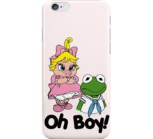 Muppet Babies - Kermit & Miss Piggy - Oh Boy iPhone Case/Skin
