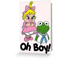 Muppet Babies - Kermit & Miss Piggy - Oh Boy Greeting Card