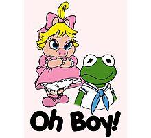 Muppet Babies - Kermit & Miss Piggy - Oh Boy Photographic Print