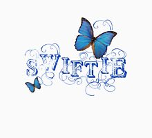 Swiftie ~ Taylor Swift Blue with Butterflies Womens Fitted T-Shirt