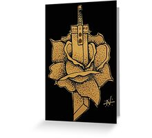 Buster Sword Rose Greeting Card