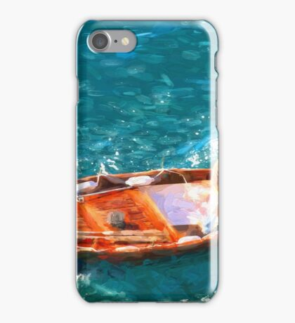 Cinque Terre fisherman iPhone Case/Skin