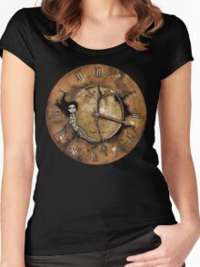 Counting Out Time Women's Fitted Scoop T-Shirt