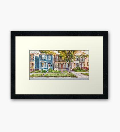 Townhouses Halifax Nova Scotia Framed Print