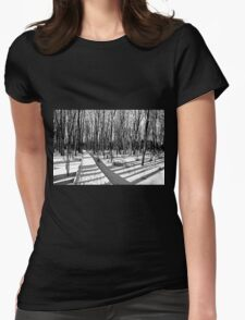 Cold Walk On The Boardwalk Womens Fitted T-Shirt