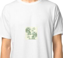 Picnic with Cthulhu  - Green on Cream Classic T-Shirt