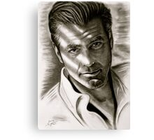 G. Clooney in black and white Canvas Print