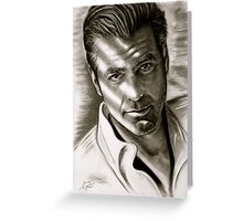 G. Clooney in black and white Greeting Card