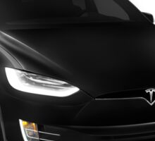 Black 2017 Tesla Model X luxury SUV electric car isolated on white art photo print Sticker