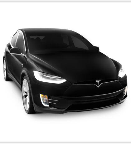 Black 2017 Tesla Model X luxury SUV electric car isolated on white art photo print Sticker