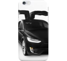 Black 2017 Tesla Model X luxury SUV electric car falcon doors art photo print iPhone Case/Skin