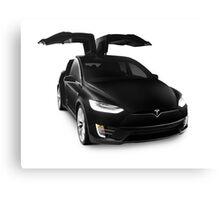 Black 2017 Tesla Model X luxury SUV electric car falcon doors art photo print Canvas Print