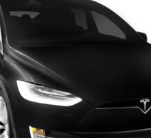 Black 2017 Tesla Model X luxury SUV electric car falcon doors art photo print Sticker
