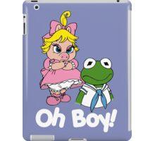 Muppet Babies - Kermit & Miss Piggy - Oh Boy - White Font iPad Case/Skin