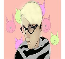Gerard Way with Glasses Photographic Print