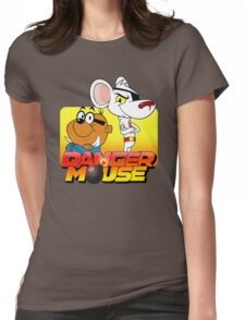 MOUSE IS DANGER Womens Fitted T-Shirt